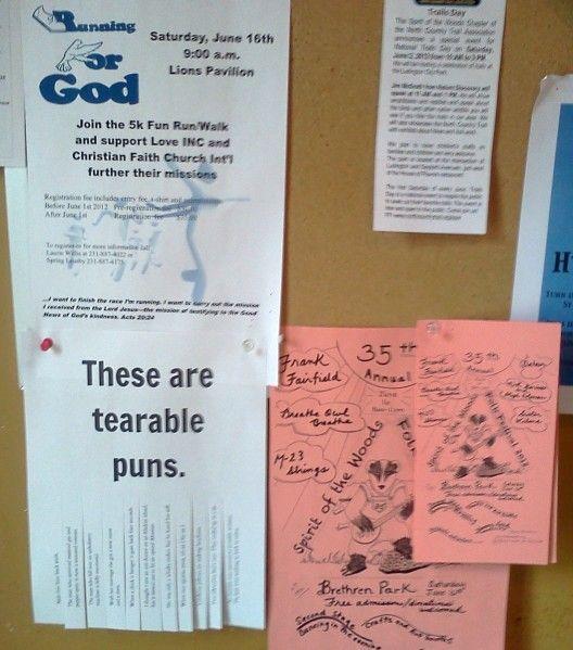 tearable puns flyer - free printable
