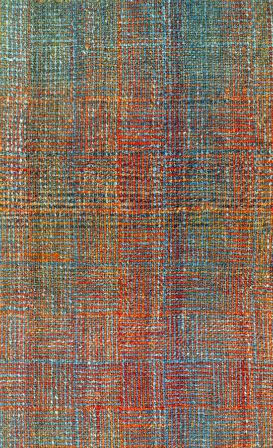 """(the trick is using ombre and varigated yarns on the warp and woof, on this log cabin block weave) Weathered Brick """"Log Cabin"""" Scarf – Benjamin Krudwig   Schacht Spindle Company"""
