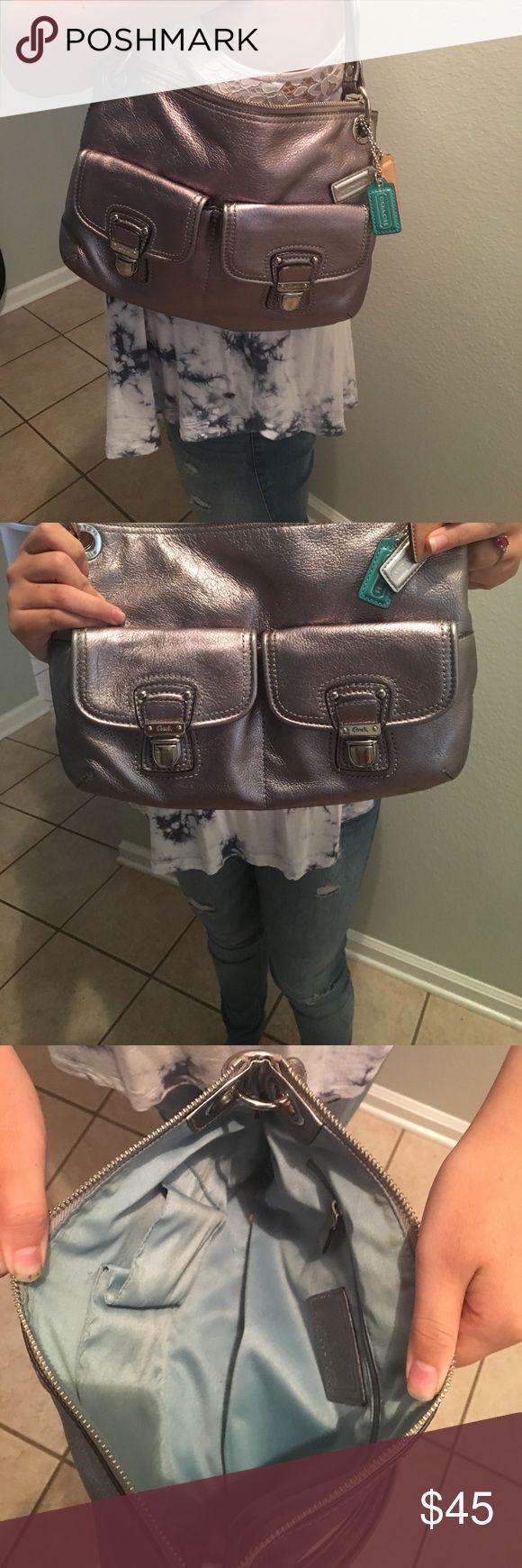 Coach Metallic Silver Handbag Great Handbag metallic Coach Bags Shoulder Bags