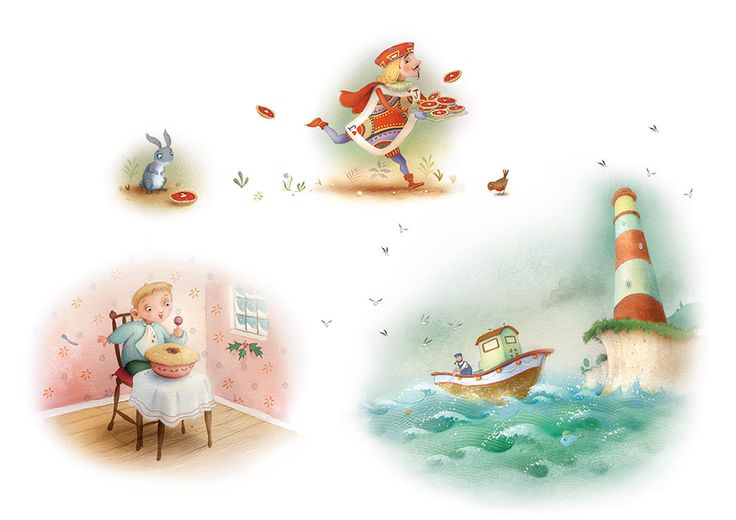 Nursery Rhyme Illustrations - Richard Johnson Illustrator