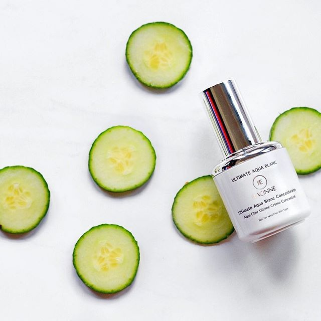 Are you looking for a way to sooth your skin this summer? Our Ultimate Aqua Blanc Concentrate has refreshing cucumber extract which is sure to provide a calming feeling on your sensitive skin!  Click the link in our BIO to learn more.  #skincare #kbeauty #koreanskincare