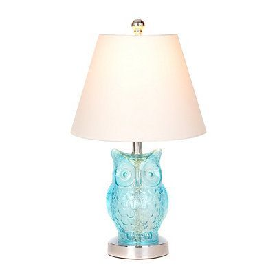 Blue Glass Owl Table Lamp | Kirkland's