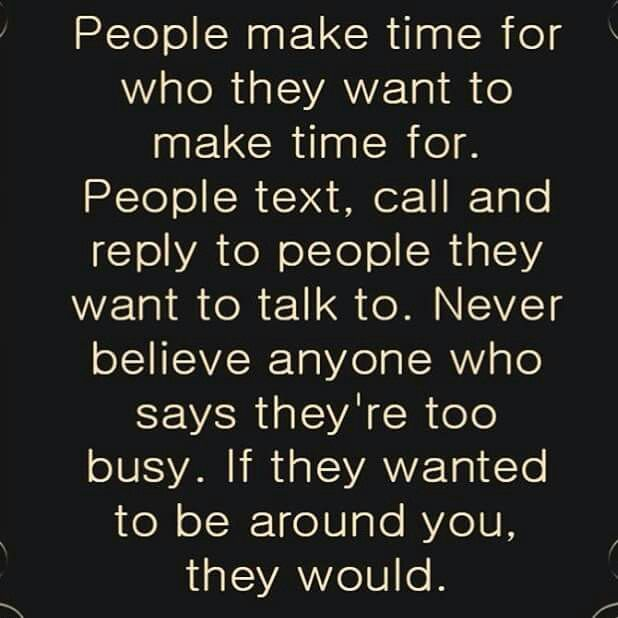 Stop chasing people who don't make you a priority. Word