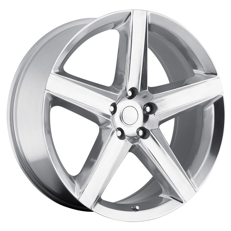 Jeep Grand Cherokee 1999-2010 22x9 5x5  30 - SRT8 Style Wheel - Polished With Cap