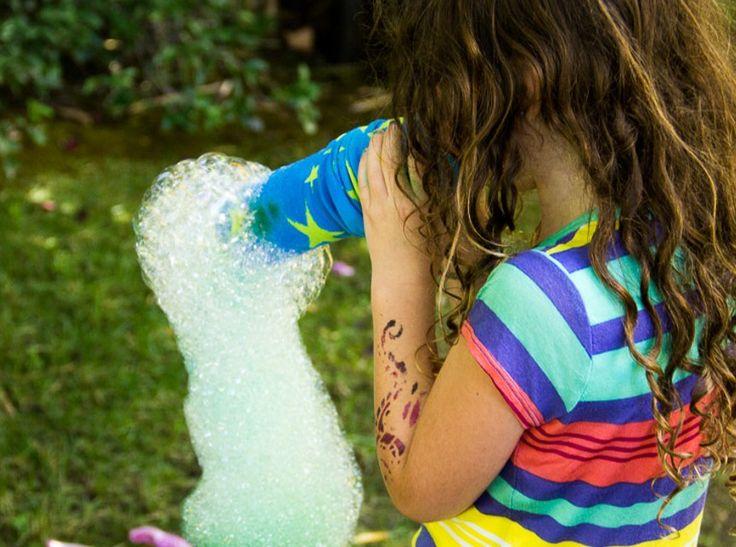DIY Sock Bubble Maker