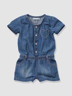 #Mono #peto #short #vaquero #tejano #denim #bebé #niña #azul