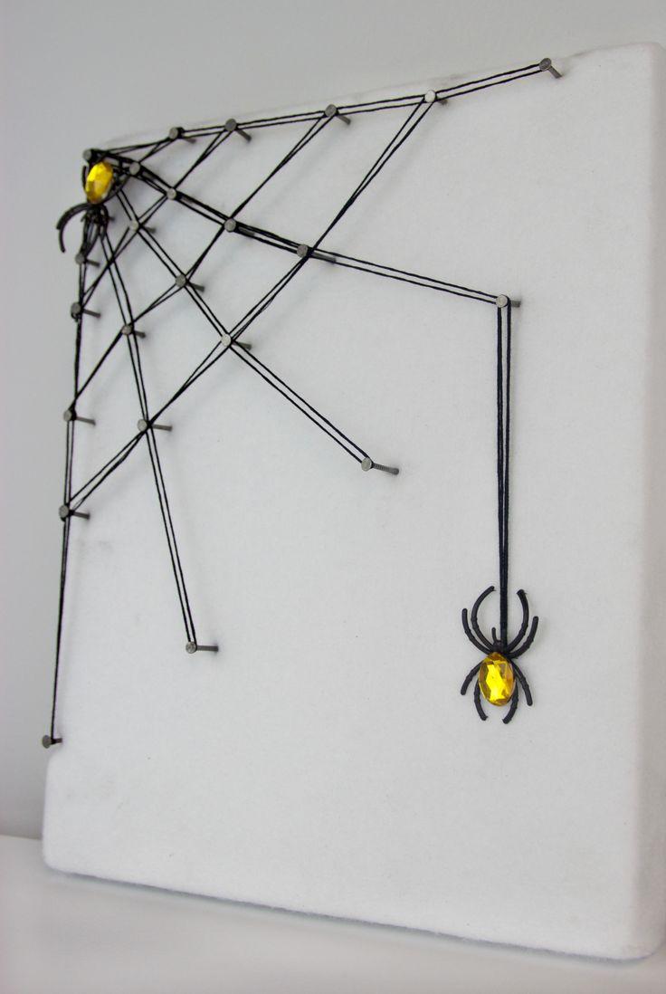 Festett mandarin hamozasa 73 - Diy String Art Spider Web
