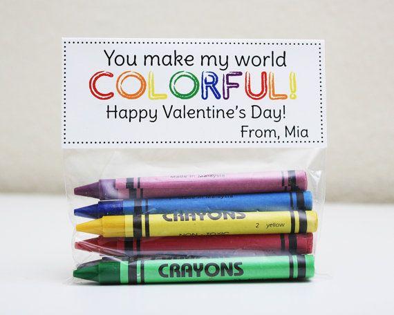 PRINTABLE Personalized Valentine Treat Topper - Classroom Valentine