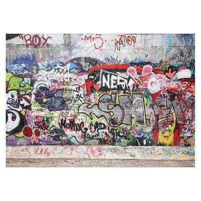 JP London MDXL99450PS uStrip Graffiti Brick Wall Street Art Peel and Stick Removable Wall Decal Mural