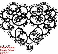 very pretty tatted heart, I actually love this in black