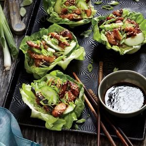 Korean Chicken Lettuce Wraps Recipe #cookinglight