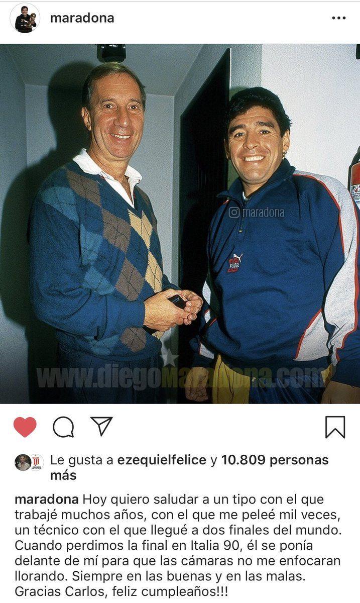 Maradona Y Un Saludo Especial Para Bilardo Tyc Sports Mexico 86 Diego Maradona Mundial 86