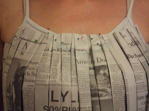 Sew a Newspaper Dress                                                                                                                                                                                 More