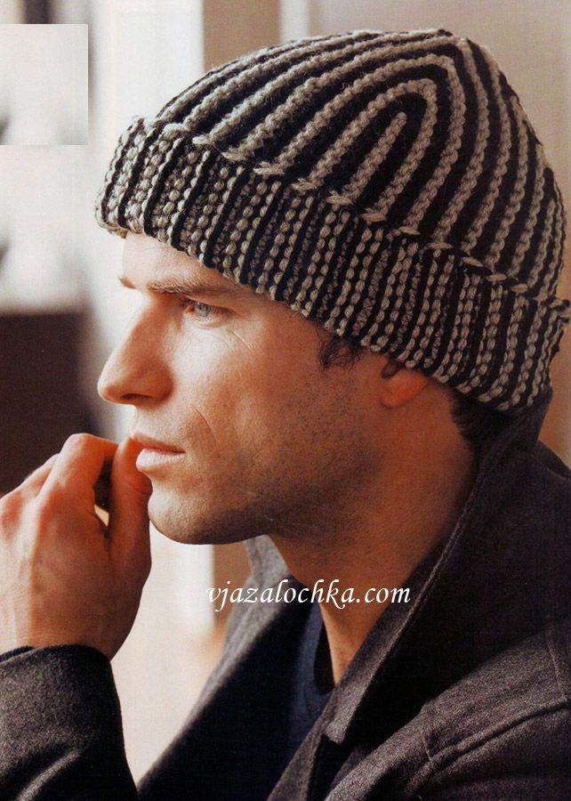Sombrero de los hombres en pt musgo