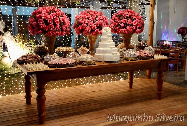 Casamento vintage com rosas