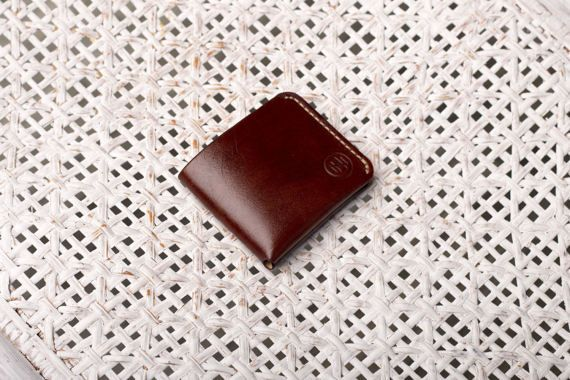 "Leather Wallet ""Pocket""/ Brown Leather Wallet / Brown Wallet / Handstithed / Man's Wallet / Hand Painted / Leather Holder /"