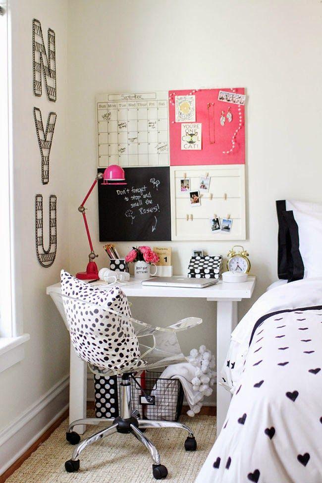 Inspírate: una oficina en el dormitorio