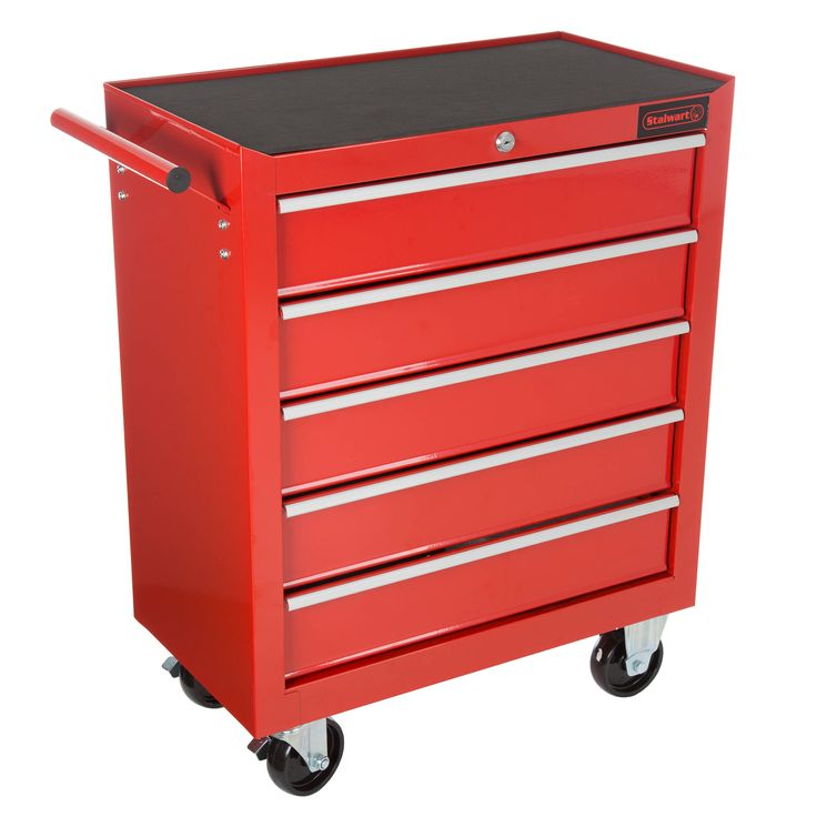 rolling tool box cabinet 5 drawer portable storage chest tools organizer with wheels by stalwart