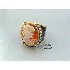 Кольцо с камеей от Amedeo. Размер 17 (ПРОДАНО)