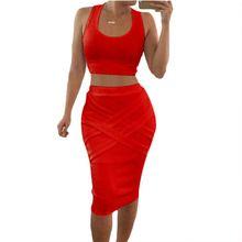2017 two piece sleeveless dress sexy club Europe Summer eBay bandage dress aliexpress explosion women clothing 0331(China (Mainland))