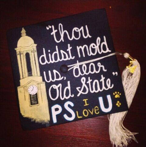 Decorated PSU Graduation Cap