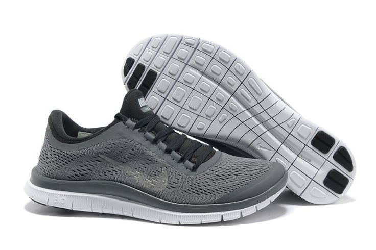 Mens Nike Free 3.0 V5 Cool Grey Metallic Silver Anthracite White Shoes #Grey #Womens