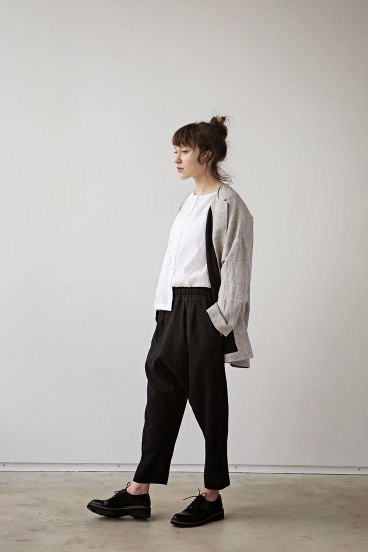 ||FASHION|| muku ss15 - casual simplicity - crisp white shirt with linen blazer