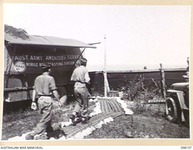 WEWAK POINT, NEW GUINEA  1945-10-23  THE BROADCASTING