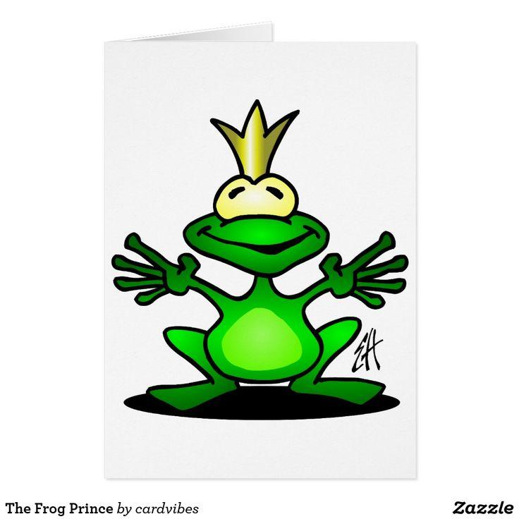 The Frog Prince Card  #frog #frogprince #prince #card #postcard #greetingcard #funny #cute #Zazzle #Cardvibes #Tekenaartje #SOLD