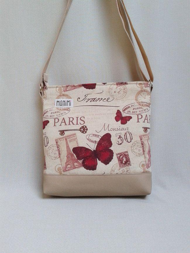 #Pillangók és #Párizs!!! Minden itt van ezen a táskán, amit szeretünk. Designer anyag és #textilbőr felhasználásával készült, nagyon romantikus, vidám hangulatú darab. Daily-bag #női #táska