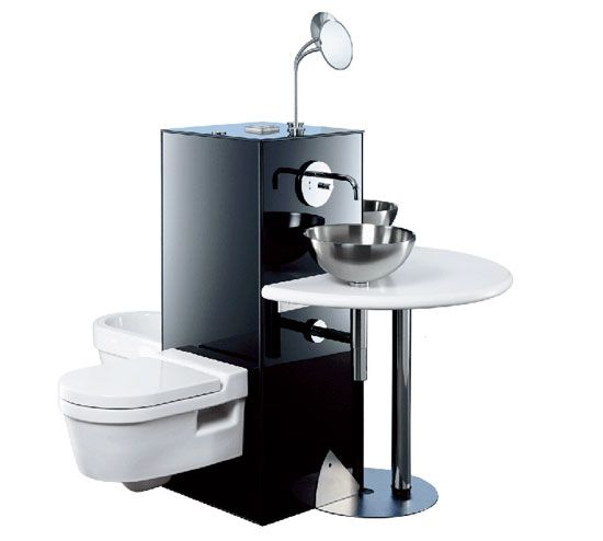 Colonna compact bathroom reduces domestic water consumption