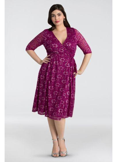 1a864aea5eb Glittering Affair Lace Plus Size Wrap Dress 13160903