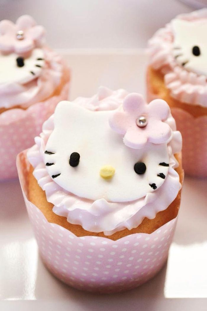 Pastel Pink Hello Kitty themed party with lots of cute ideas via Kara's Party Ideas | KarasPartyIdeas.com #hellokitty #partyideas #...