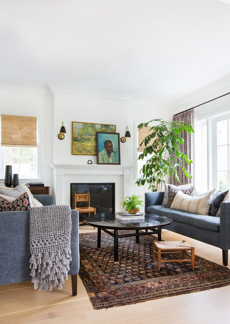 Two custom navy sofas flank a vintage cocktail table in the living room   Lewis broughtThe 25  best Navy sofa ideas on Pinterest   Navy couch  Navy blue  . Navy Sofa Living Room. Home Design Ideas