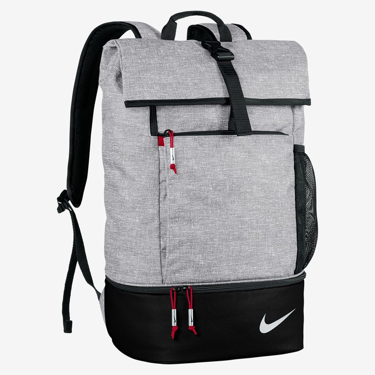 Nike Shoe Bag Authentic Sports Backpack Gray Mesh For Football Tennis
