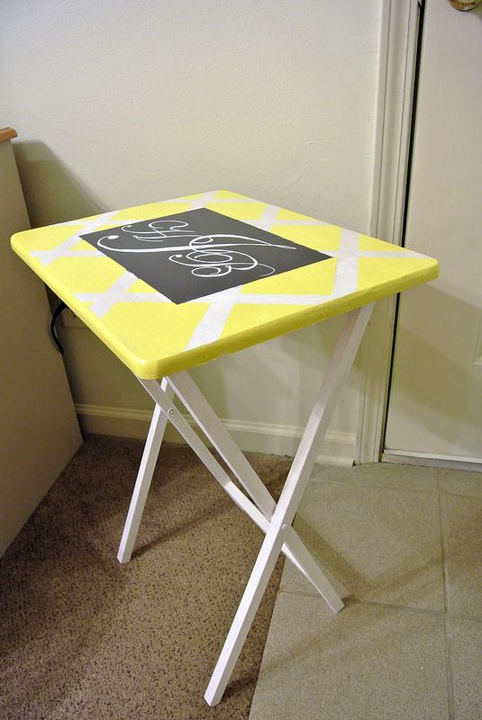 Interesting Idea To Update My Old Folding Tray Tables.I Have Like 3 Of  These That The Boys Like To Eat On While Watching Tv I Am So Doingthis