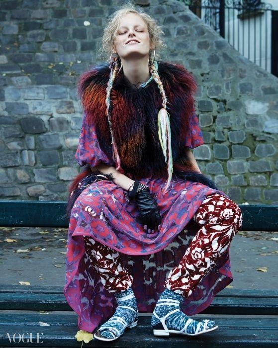 Hanne Gaby Odiele Vogue Korea January 2015 Look