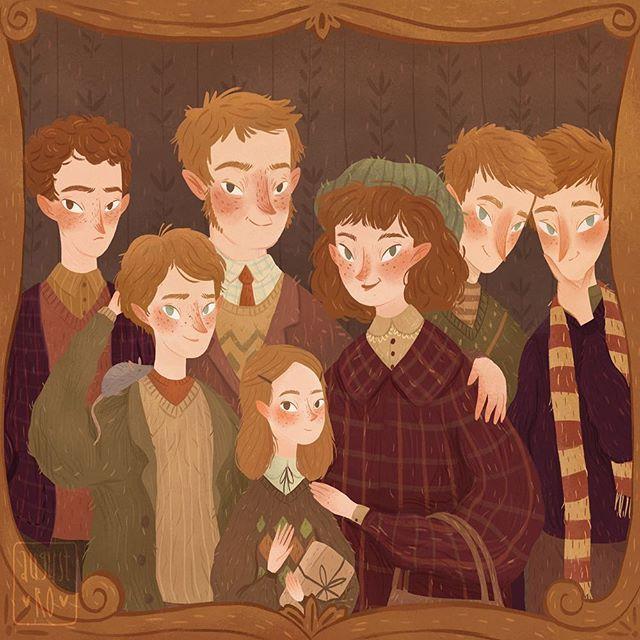 #PotterWeekPrompts day 2✨ #mustbeaweasley it's impossible to  choose only one Weasley Вот и снова я! И у меня как всегда железная логика! Если ну абсолютно нет времени на рисование - рисуй 7 Уизли, вместо одного! Парам-пам-пам! ♀️ ну люблю я очень эту семейку со всеми из вязанностями-уютностями и рыжестями естественно! Кто ваш любимый (не побоюсь этого слова) член семьи Уизли? А спонсоры моих каламбурчиков, желание спать завтра мне будет стыдно, но сейчас я в восторге! Не судите ме...
