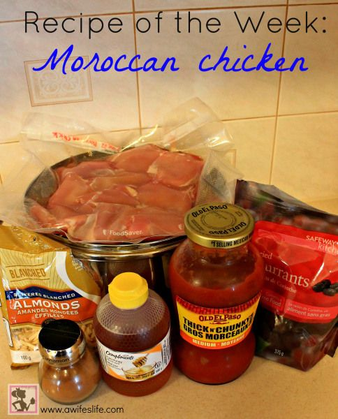 Moroccan Chicken - great rainy day recipe