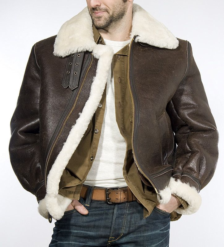 B3 Sheepskin Bomber Jacket - Coat Nj