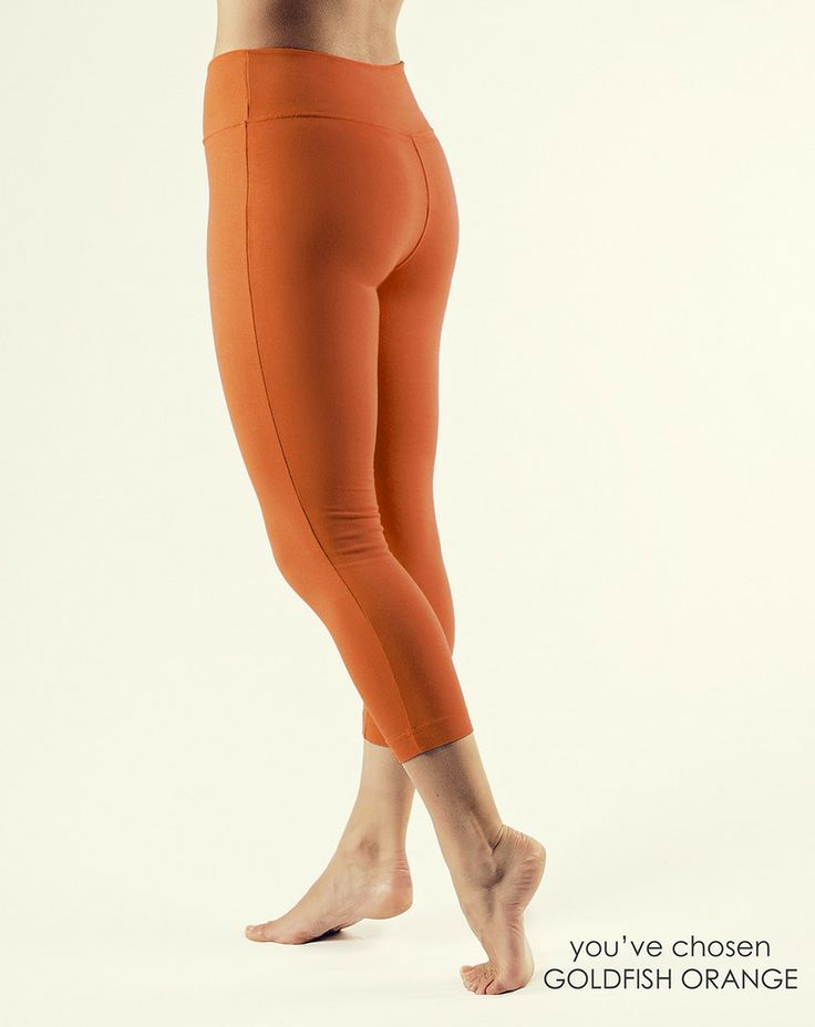 Yoga Clothes from Gossypium | Organic Cotton Fold Over leggings - GOSSYPIUM | Organic cotton Yoga clothes Crafted in the UK