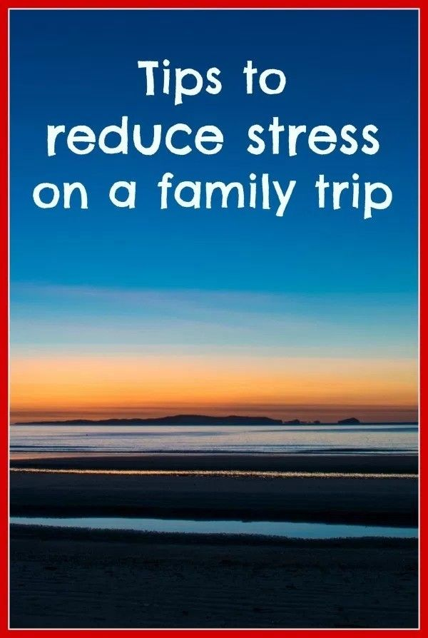 Does the thought of traveling with kids stress you out? Click the image above for tips on reducing stress on a family trip