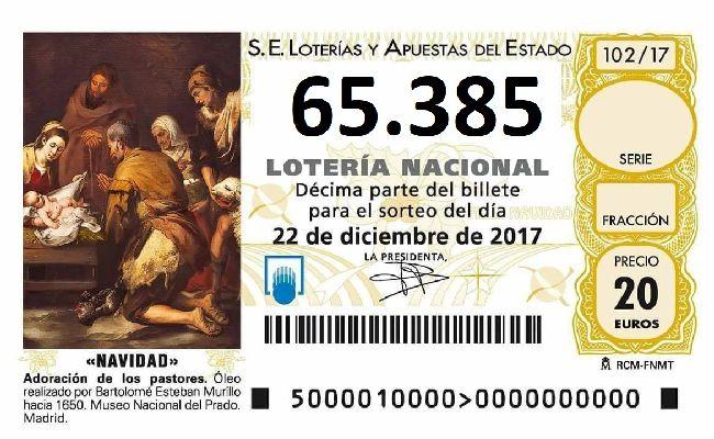 Resultado de imagen de decimo loteria navidad 2017