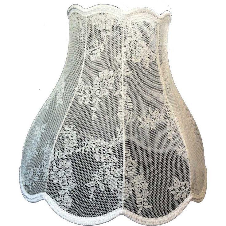 Retro lampenkap in kant uitgevoerd, gaaf voor boven de keukentafel of in de kinderkamer! Price €49,95