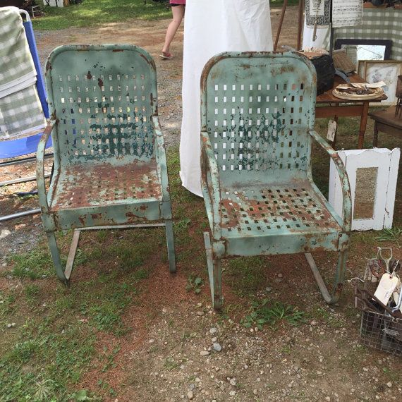 Garden Chairs / Spring Steel Garden Chairs / Bouncers / Pair