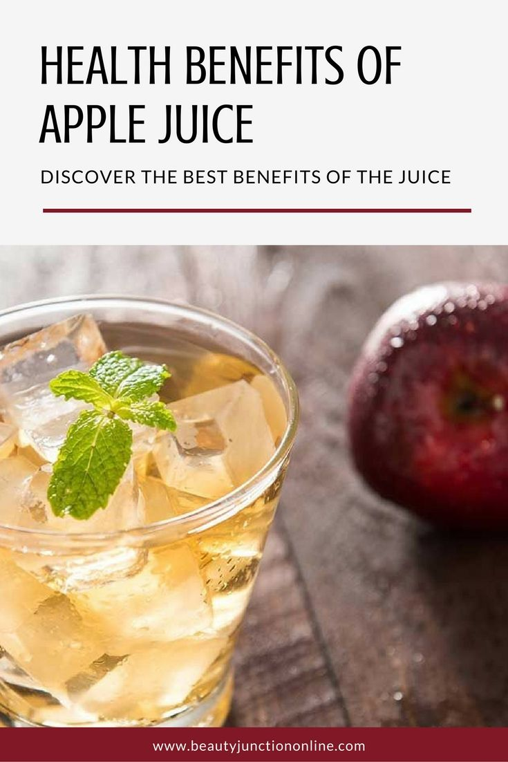 Discover the best health benefits of apple juice