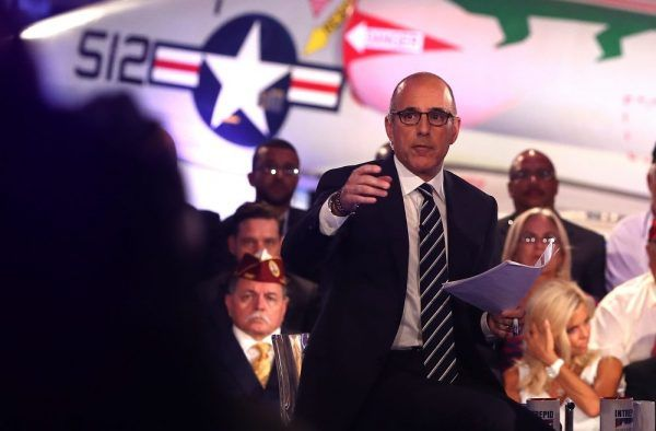 HE'S AN OVERRATED, DISHONEST,  REPUBLICAN JERK THAT CAN'T KEEP HIS PERSONAL FEELINGS OUT OF HIS JOB!  matt lauer political forum | Does anyone think Matt Lauer did a good job last night? - Kristi ...