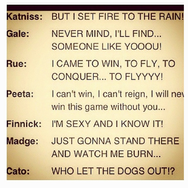 Hunger Games Problems I could NOT stop laughing at Cato and Finnick! XD