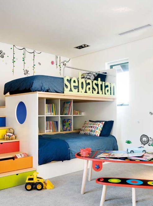 loft bed... but nook beneath instead of bed?
