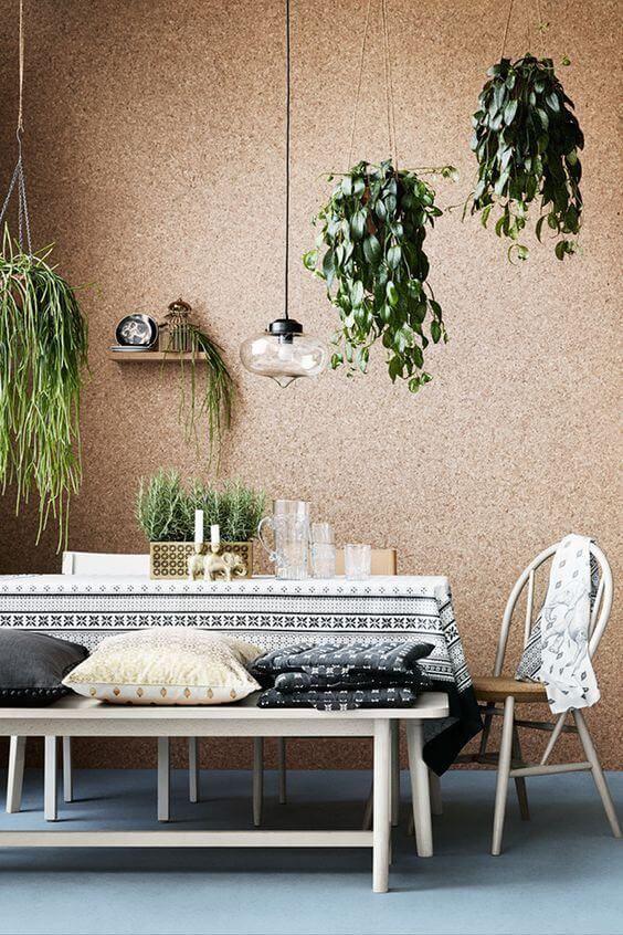 Corkboard wall and flooring